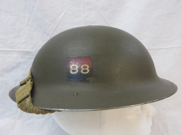 WWII Rare 88th Royal Canadian Artillery Helmet