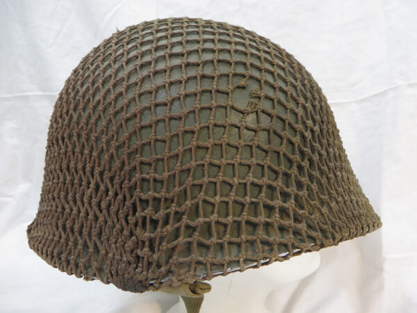 WWII US MI Fixed Bale Combat Helmet